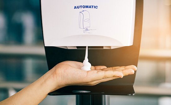 Does the hotel have hand sanitizing stations?