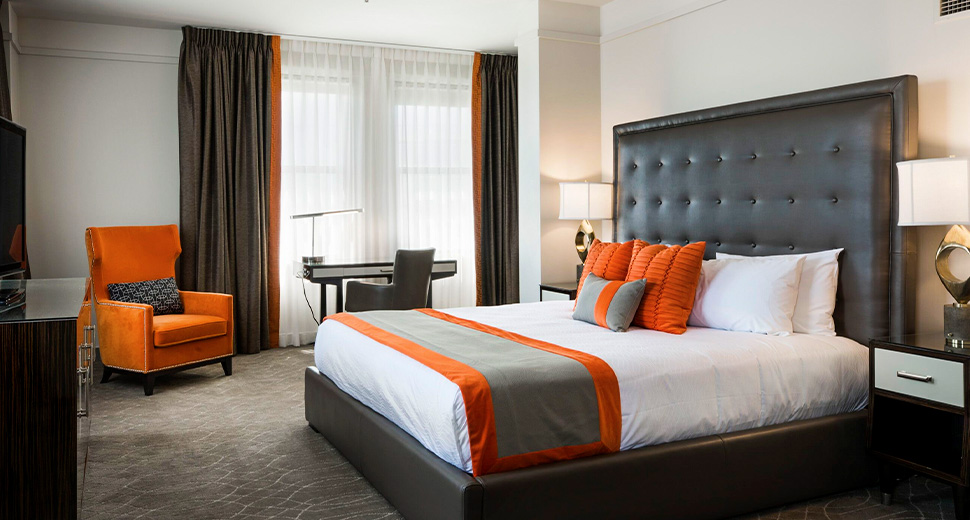 Superior Corner King room of Colcord Hotel, Oklahoma